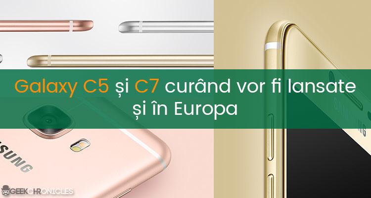 telefoane ieftine samsung galacy c5 și c7