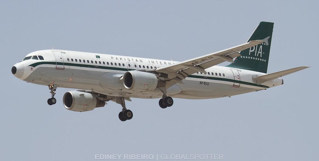 AIRBUS A320-200 (AP-BLU) PAKISTAN AIRLINES  | DUBAI | DXB-OMDB