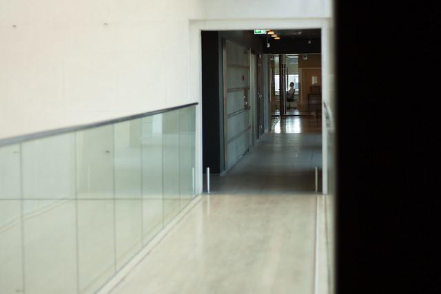 Behind Locked Glass Doors