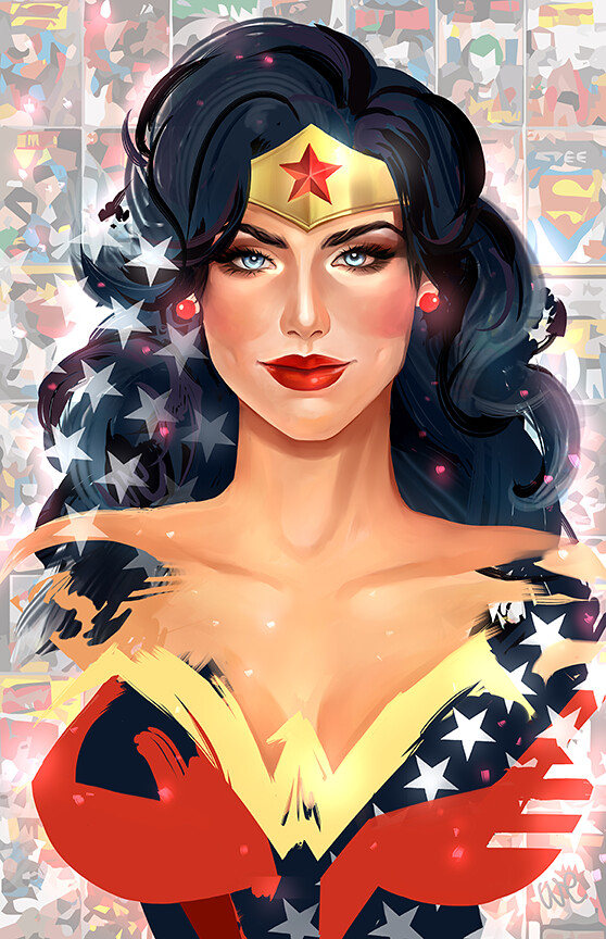 The Ladies of DC and Marvel Comics by Whitney Jiar - Wonder Woman