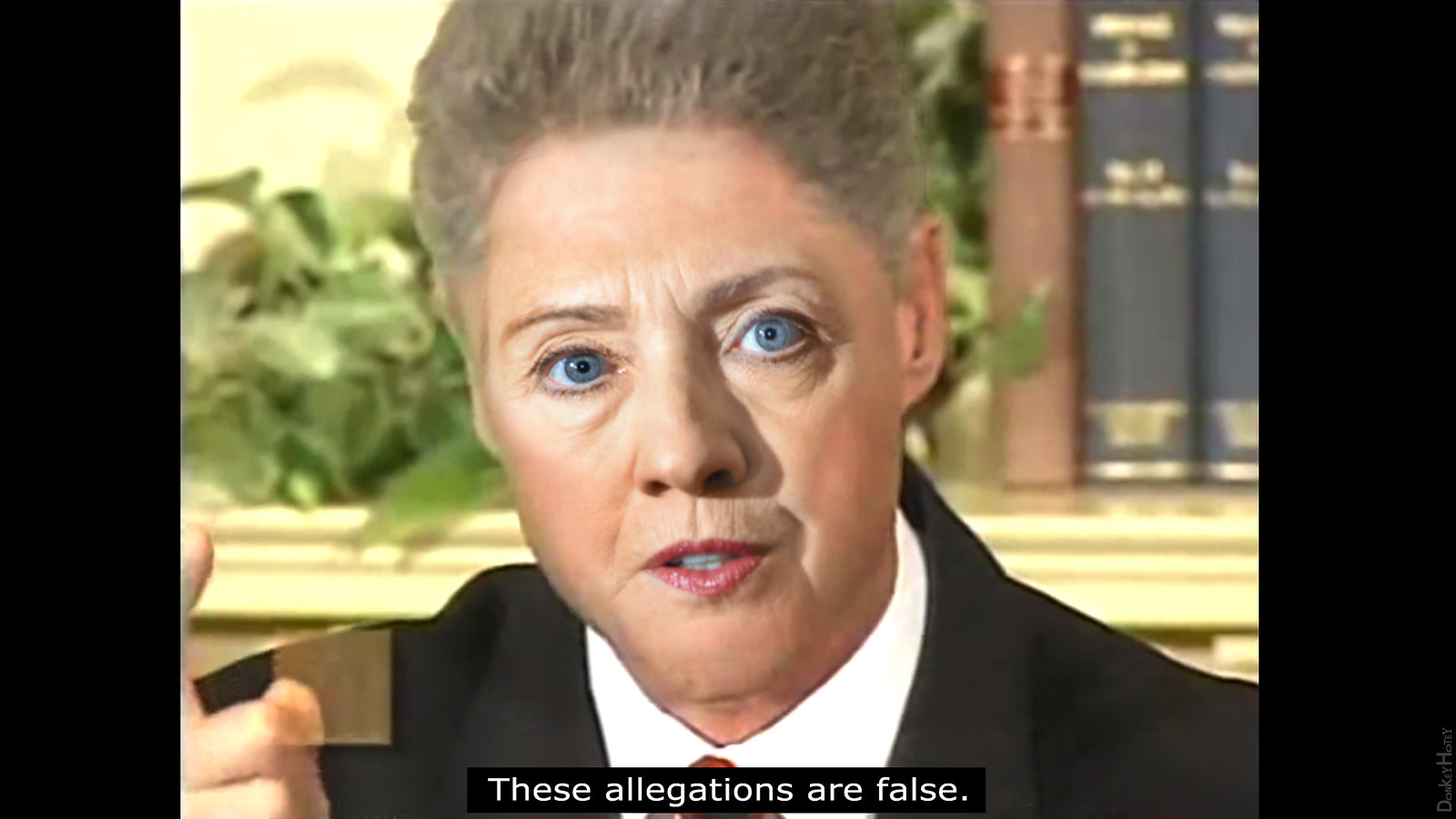 Hillary - These allegations are false. | by DonkeyHotey