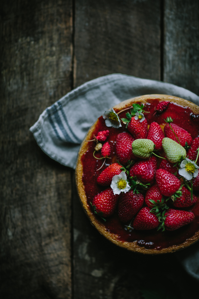 Strawberry Balsamic Creme Fraîche Cheesecake by Eva Kosmas Flores | Adventures in Cooking