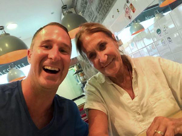 yogi Aaron and Chef Marie Blue Osa