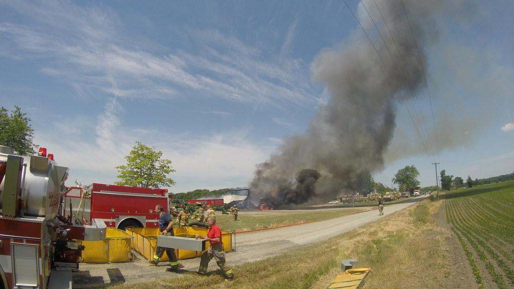 Wainfleet barn fire, Saturday, June 18