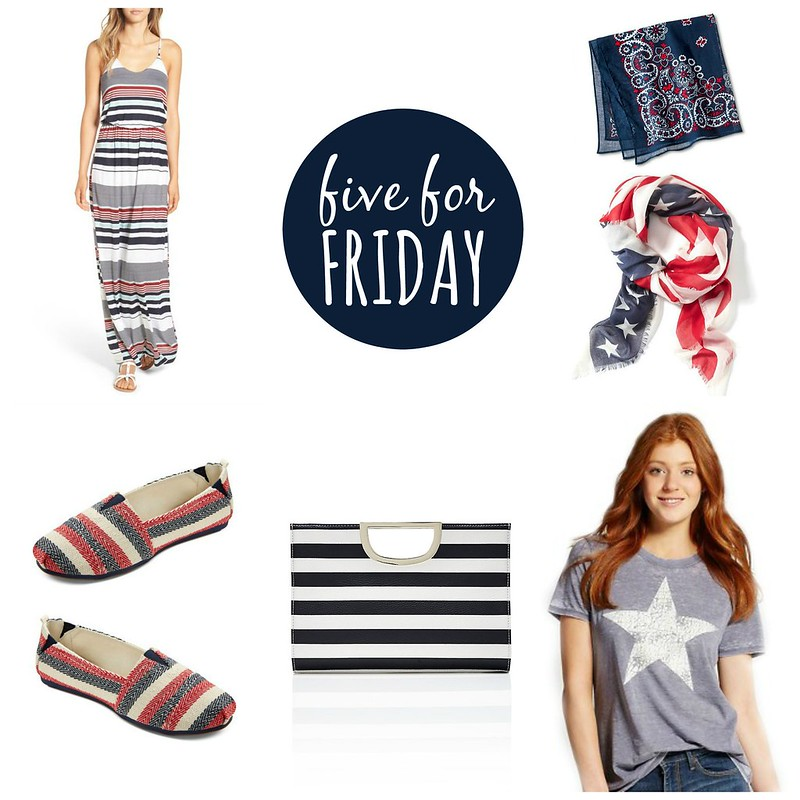 five for friday red white and blue | Style On Target