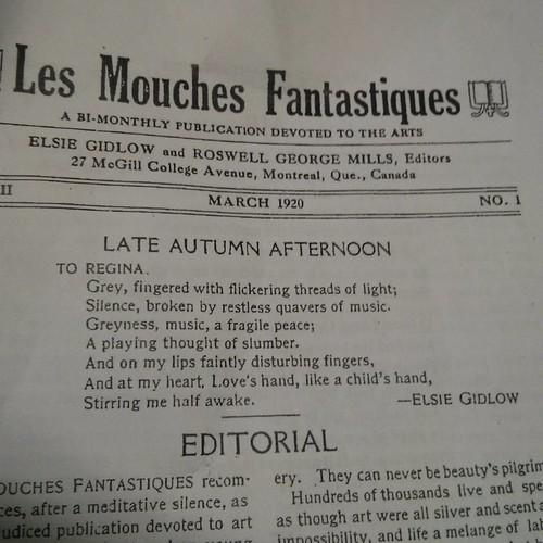"""To Regina"", by Elsie Gidlow #toronto #nuitrose #LesMouchesFantastiques #zine #lgbt #elsiegidlow"