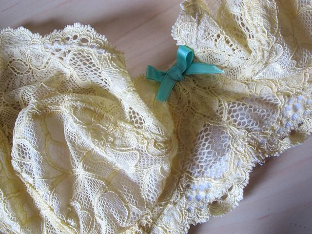 Yellow Lace Marlborough bra