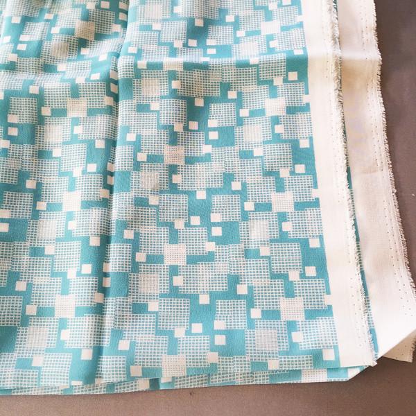 aqua squares silk