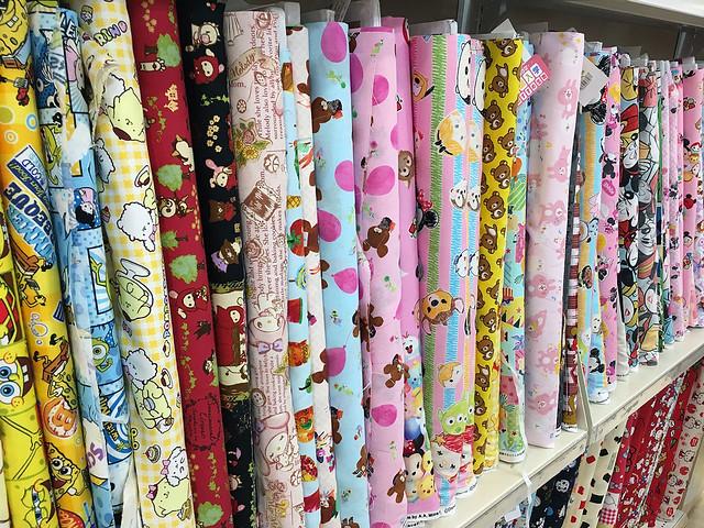 Kawaii fabric at Yuzawaya