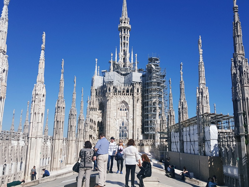 top of the Duomo Milan