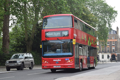 Metroline BYD1472 on Route 98, Russel Square