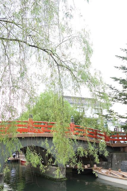 三柱神社 欄干橋と柳 / 福岡