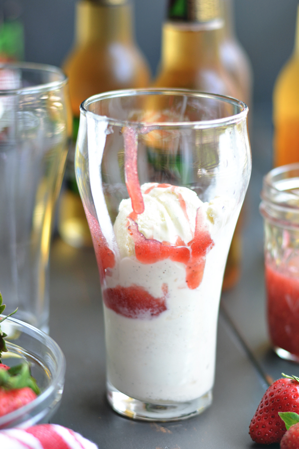 Strawberry Beer Floats! bethcakes.com