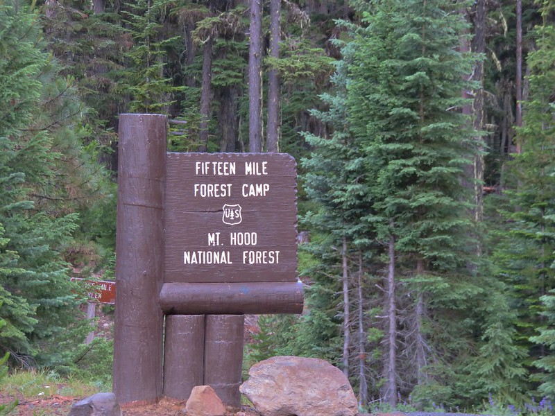 Fifteen Mile Forest Camp entrance