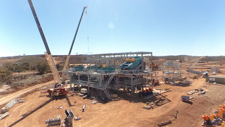 Dry commissioning of crusher at Mt Marion