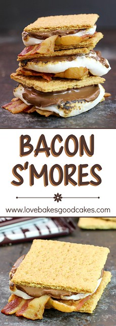 Take your s'mores to the next level with bacon!! You'll love this salty, sweet, chocolate combo!