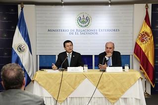 El Salvador y España presentan nuevo marco de cooperación para el periodo 2015-2019