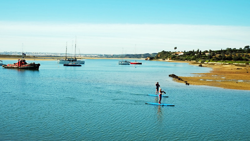 Paddlers, Alvor, Portugal