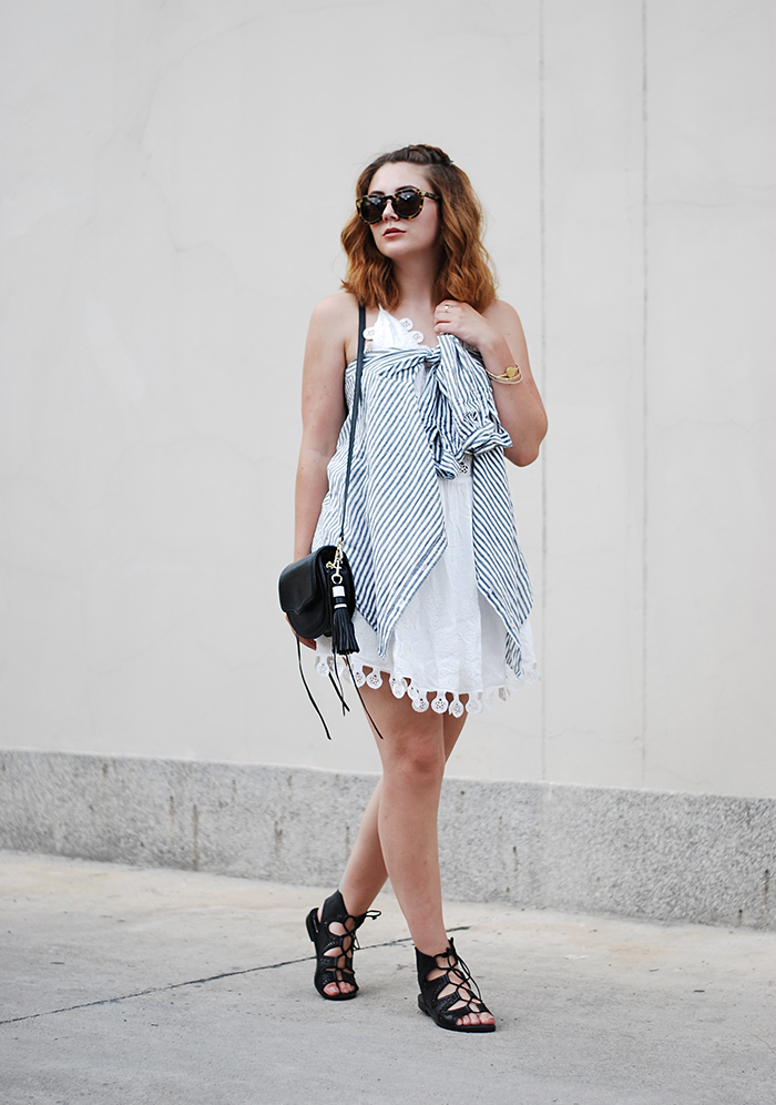 Cutout-dress-weiß-celine-sunglasses-pretty
