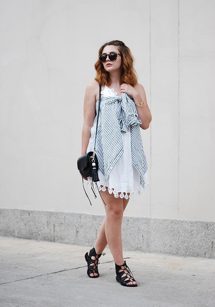 Cutout-dress-weiß-celine-sunglasses-pretty
