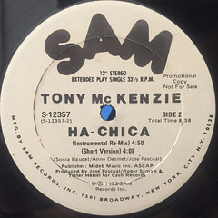 TONY MCKENZIE:HA-CHICA(LABEL SIDE-B)