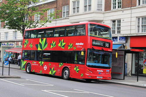 Metroline BYD1474 on Route 98, Edgware Road
