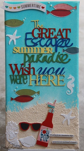 """Wish You Were Here"" Canvas"