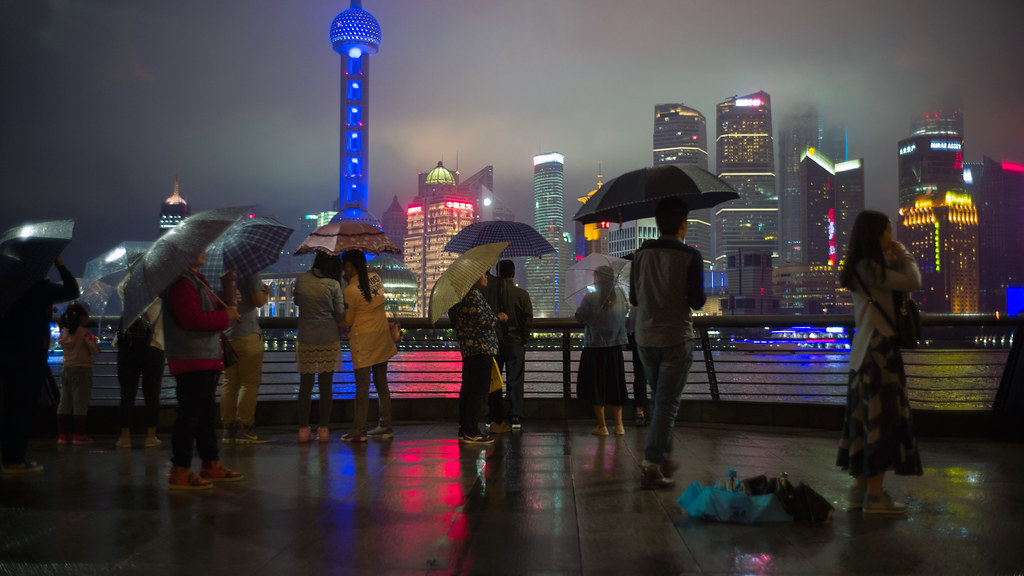 Rainy Night in Shanghai, May 2016