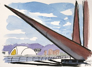 "El Niemeyer desde la escultura ""Avilés"""