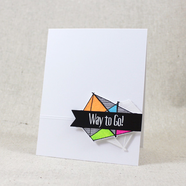 Neon Way To Go Card