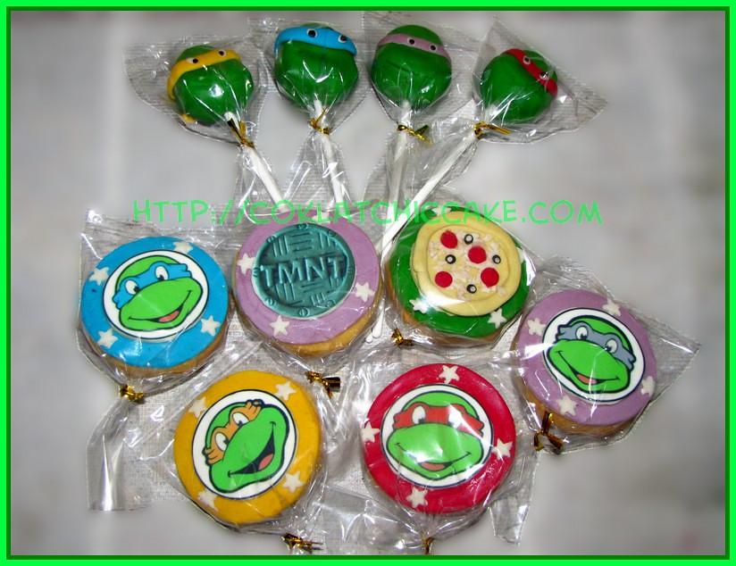 cakepops dan cookies ninja turtle