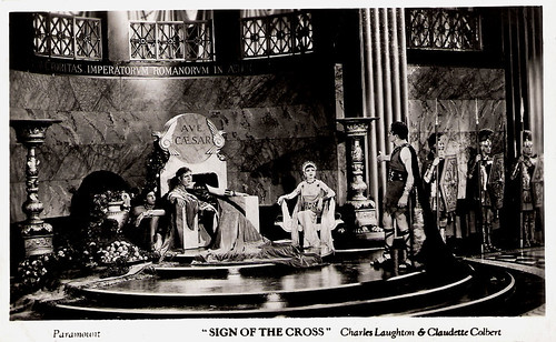 Charles Laughton, Claudette Colbert in The Sign of the Cross (1932)