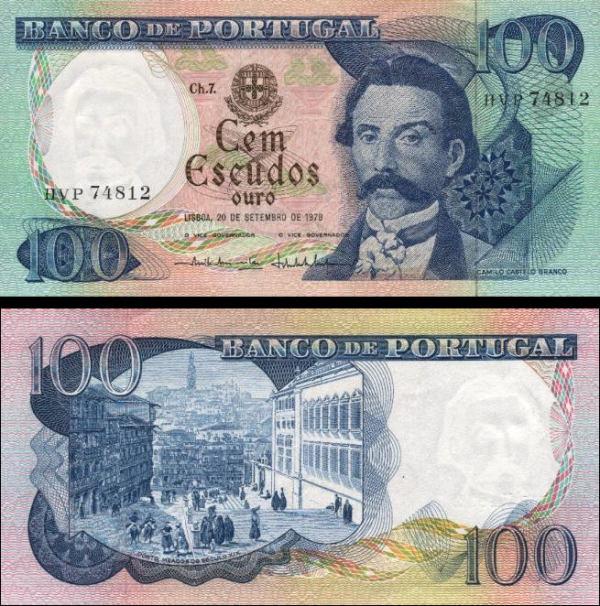100 Escudos Portugalsko 1978, P169b