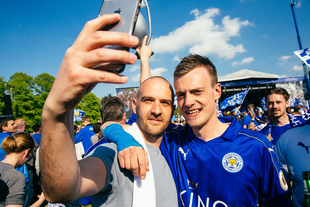 Jamie Vardy Taking a Selfie, Bring Your Vodka and Your Charlie!
