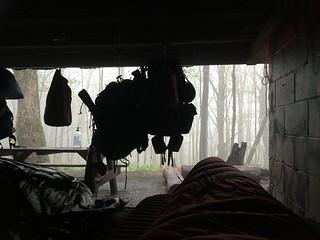 Lovely weather outside Moreland Gap Shelter