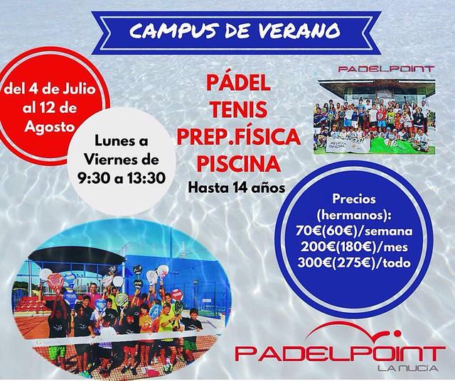 Campus de Verano para Menores en Padelpoint La Nucía