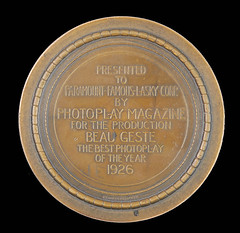 Photoplay Magazine Medal reverse