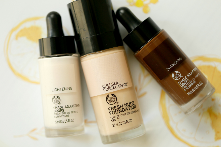 The Body Shop Fresh Nude Foundation en Shade Adjusting Drops, the body shop, the body shop fresh nude foundation, the body shop shade adjusting drops, fashionblogger, fashion is a party, beautyblog, the body shop fresh nude foundation review, the body shop shade adjusting drops review, foundation review, hydraterend, skin care, foundation lichte huid, the body shop, the body shop webshop, the body shop kortingscode, the body shop fresh nude foundation chelsea porcelain
