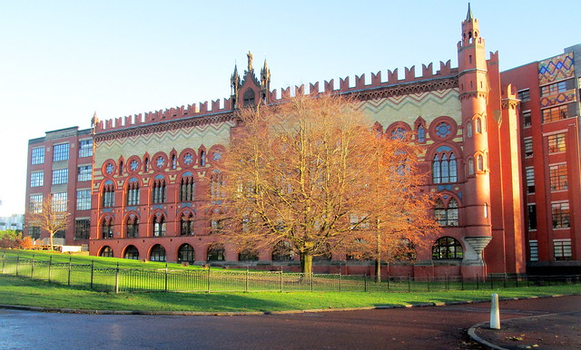 Templeton Carpet Factory, Glasgow, from Southwest