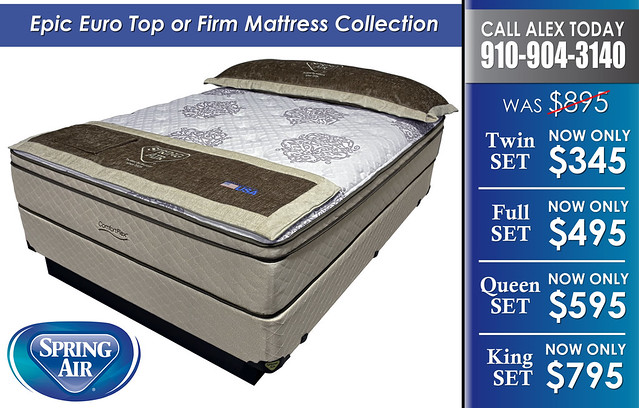 Epic Euro or Firm Mattress Sets