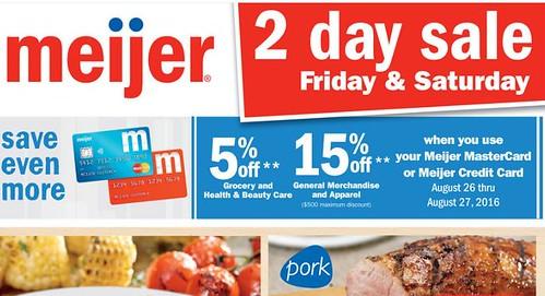 Meijer Two Day Sale August 26