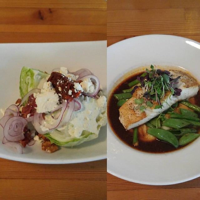 Wedge salad, halibut