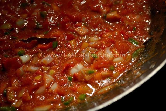 Spaghetti aux Crevettes & aux Trois Poivrons  © Ana Luthi Tous droits réservés 8