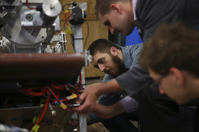 College of DuPage Engineering Club Preps for NASA Robotics Mining Competition 2015