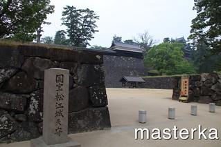 松江城入り口