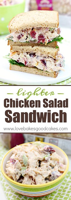 This is the PERFECT Lighter Chicken Salad Sandwich recipe! AD