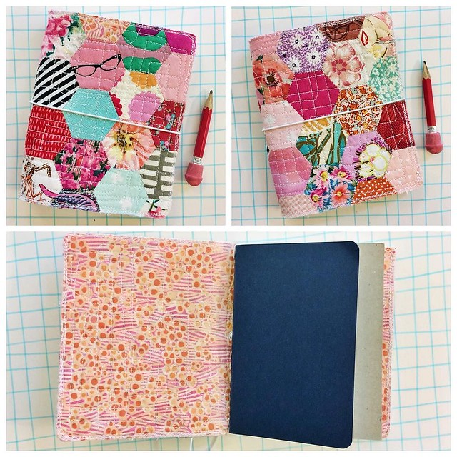 Left or right? Which side do you prefer as the cover? I just finished this small sized, quilted planner fauxdori, that holds quarter sized books, and/or the passport sized moleskine cashier (as seen above). Anyone interested before I add it to my shop, $4