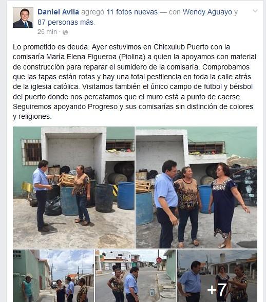 Daniel Avila entrega apoyos en Chicxulub Puerto