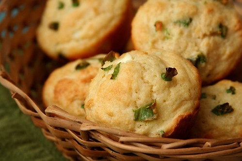 goat cheese scallion muffins 4 | by crumblycookie