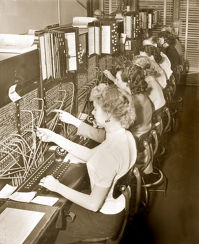 Studebaker Switchboard Operators - South Bend, Indiana | by The Cardboard America Archives